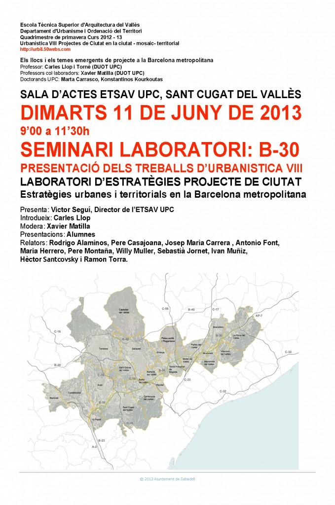 Seminari B-30 11 de juny 2013